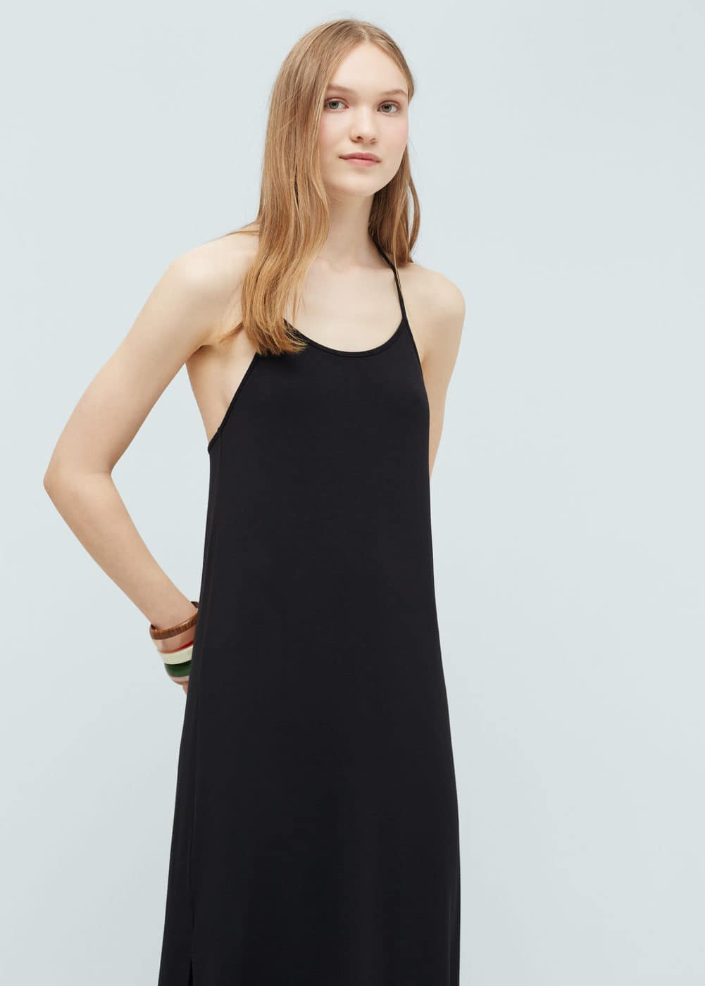 Flowy long dress | MANGO
