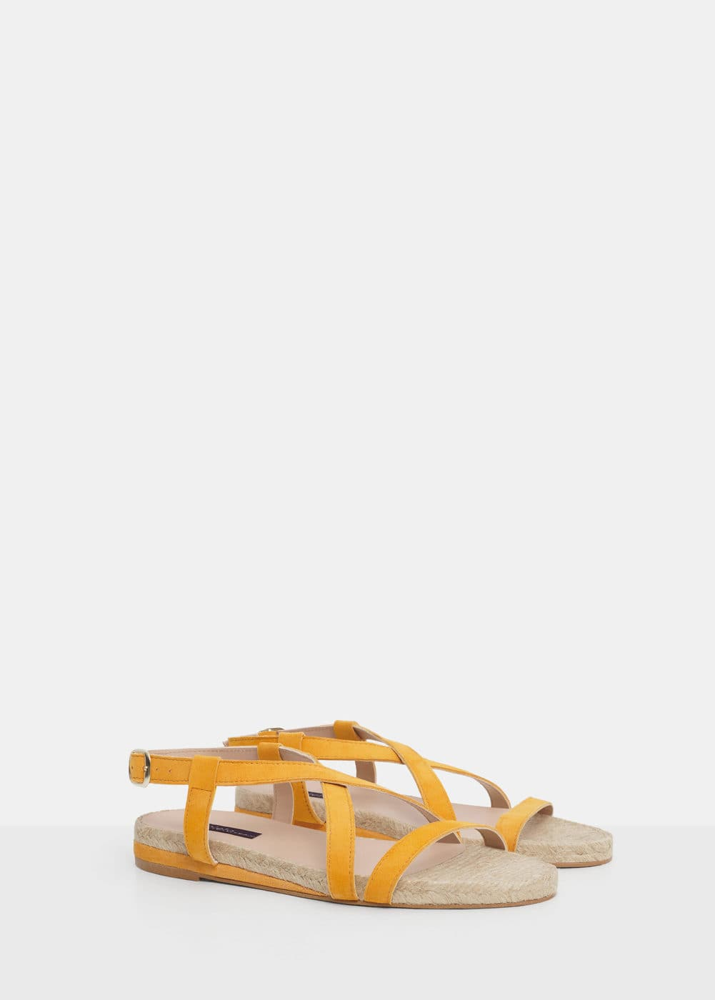 Leather strap sandals | VIOLETA BY MANGO