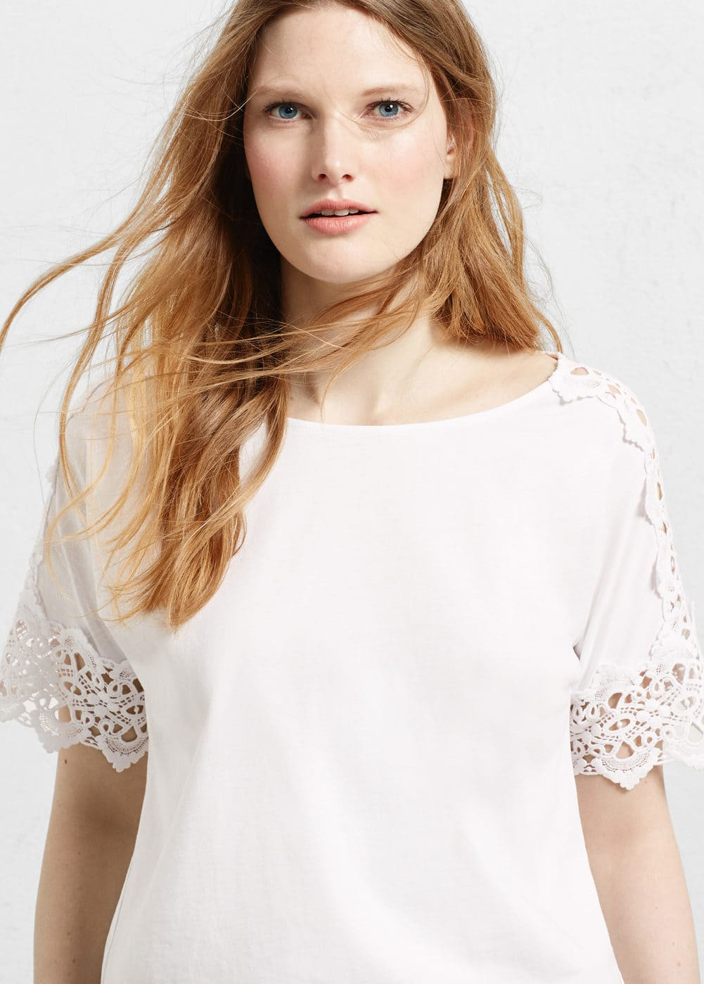 Embroidered cotton shirt | VIOLETA BY MANGO