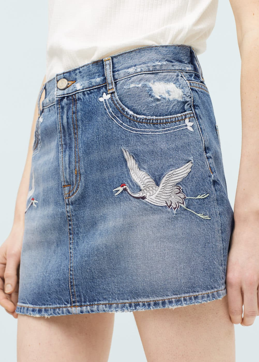 Embroidered skirt | MANGO