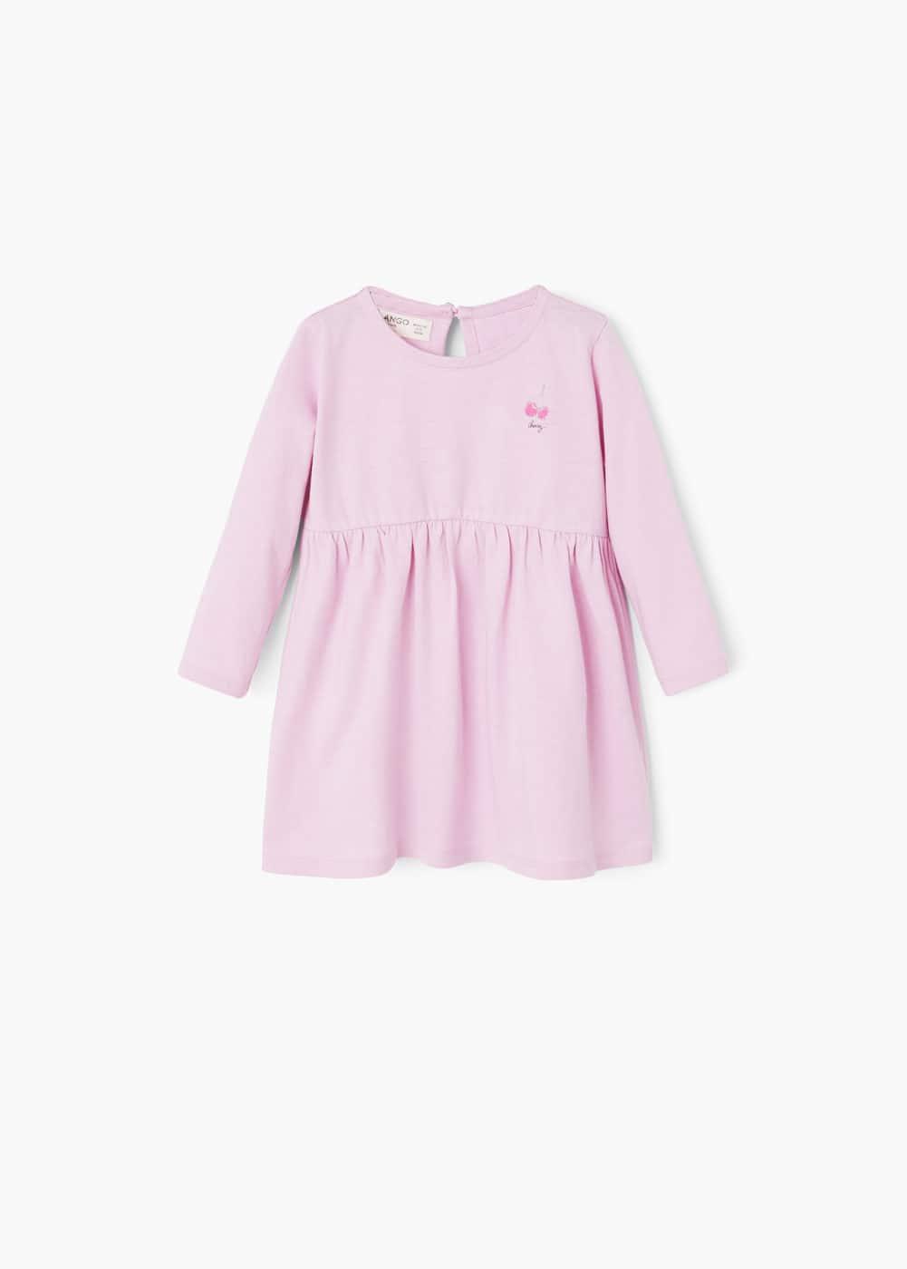 Cotton-blend dress | MANGO KIDS