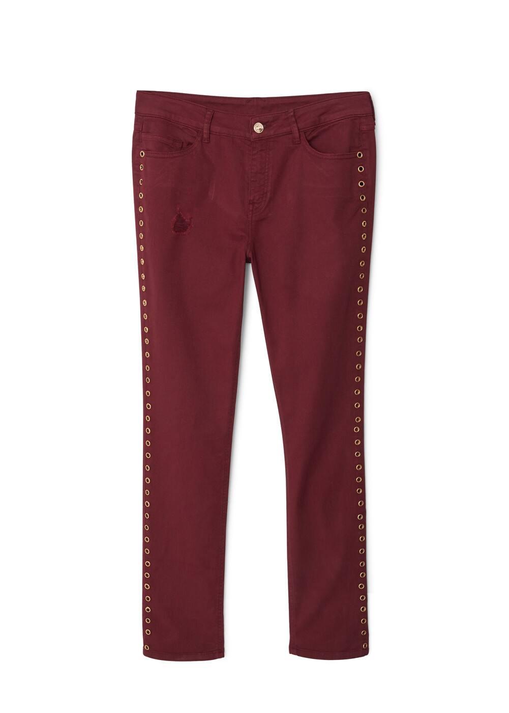 4b653833b Slim-fit jeans met studs - Dames   MANGO Suriname