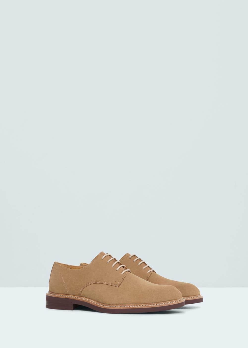 Leather blucher   MANGO