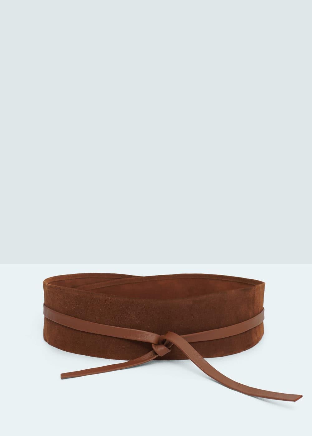 Leather obi belt | MANGO