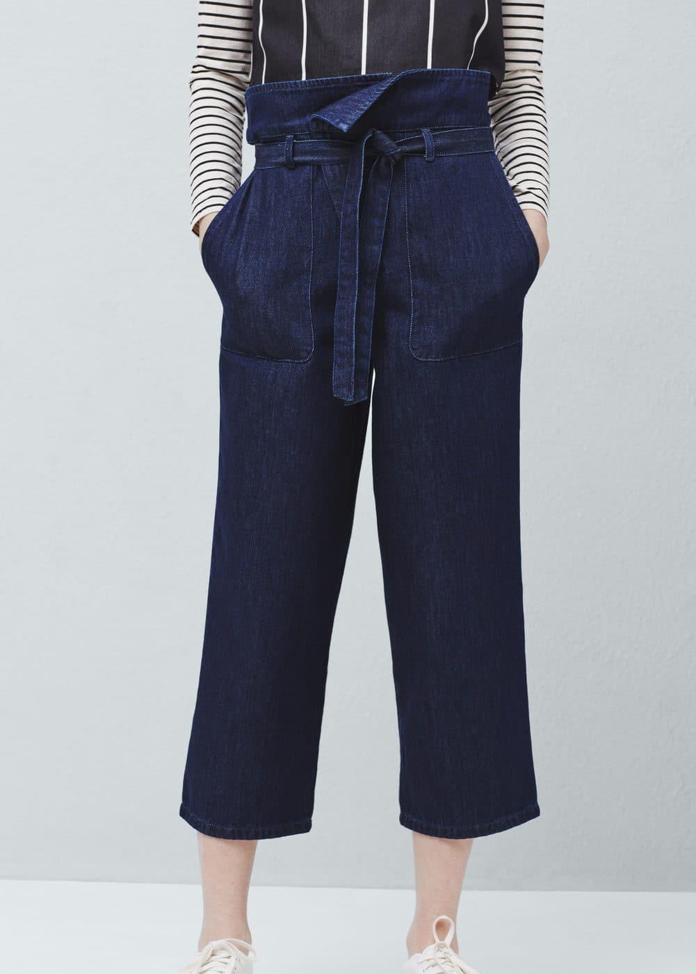 Panama crop jeans | MANGO