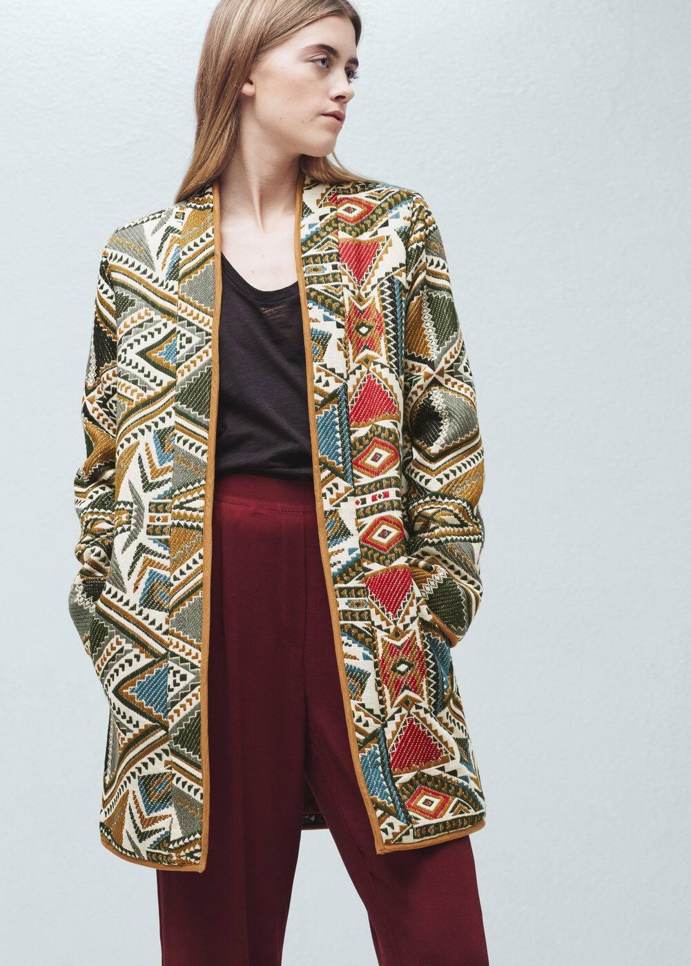 Kabátek s výšivkou | MANGO