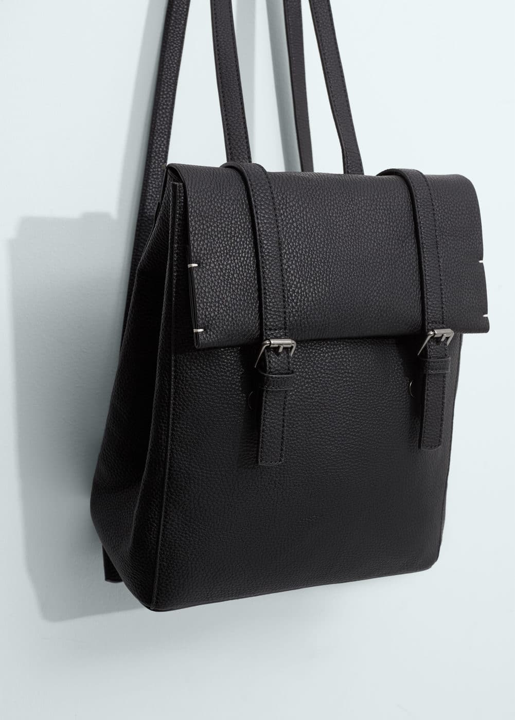 Pebbled backpack | MANGO