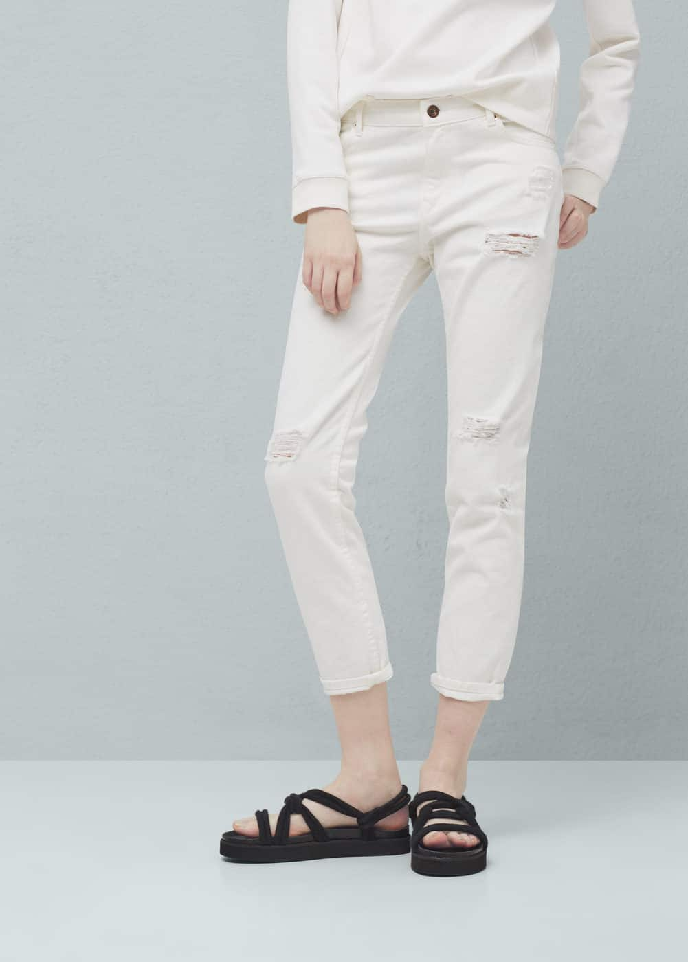 Relaxed crop nancy jeans | MANGO