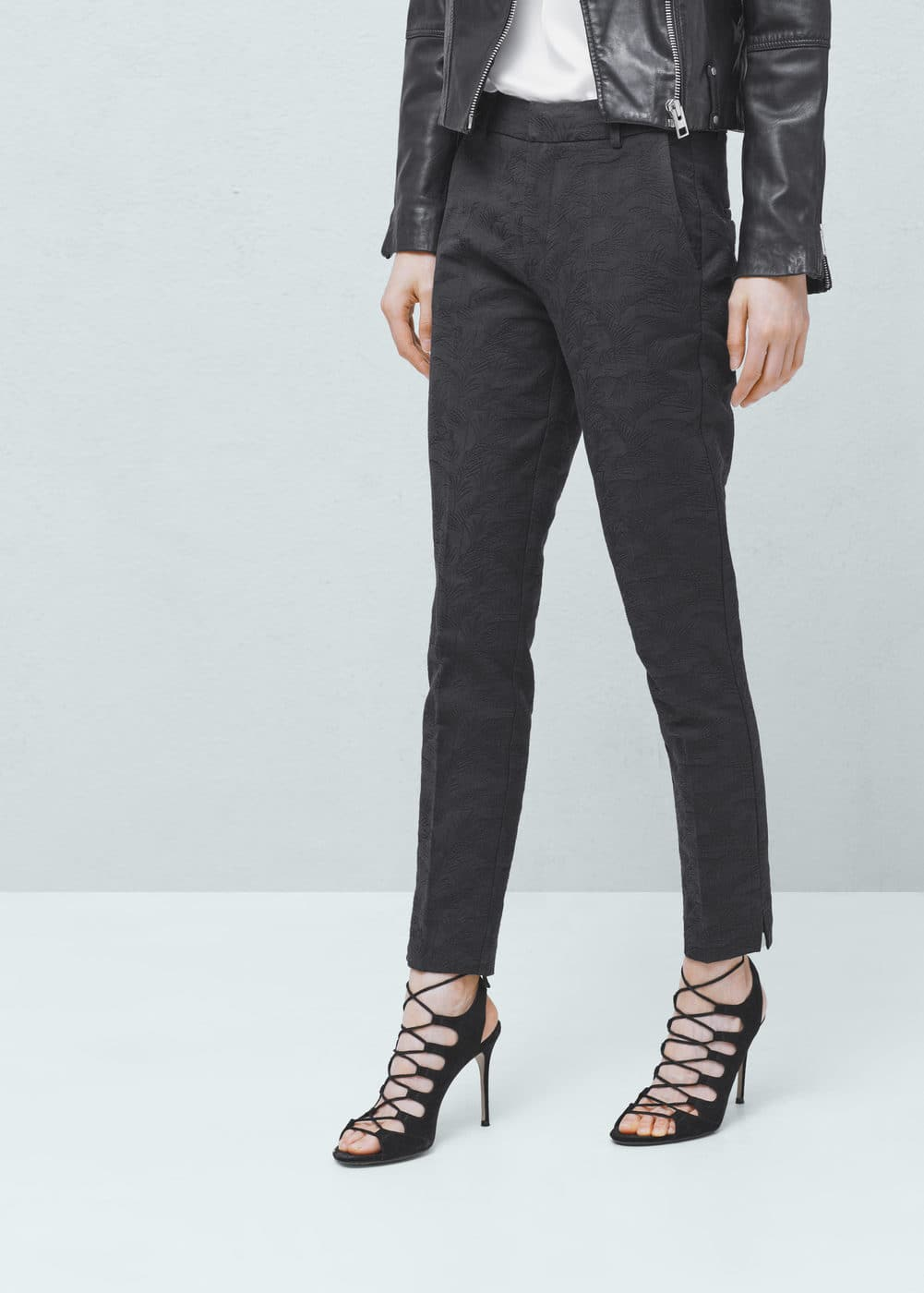 Pantaloni cotone texture | MANGO