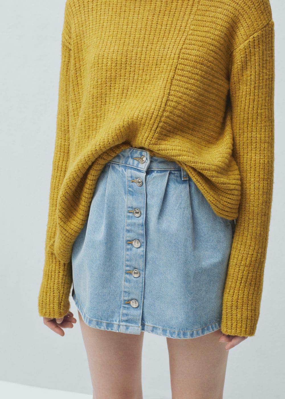 Buttoned denim skirt | MANGO