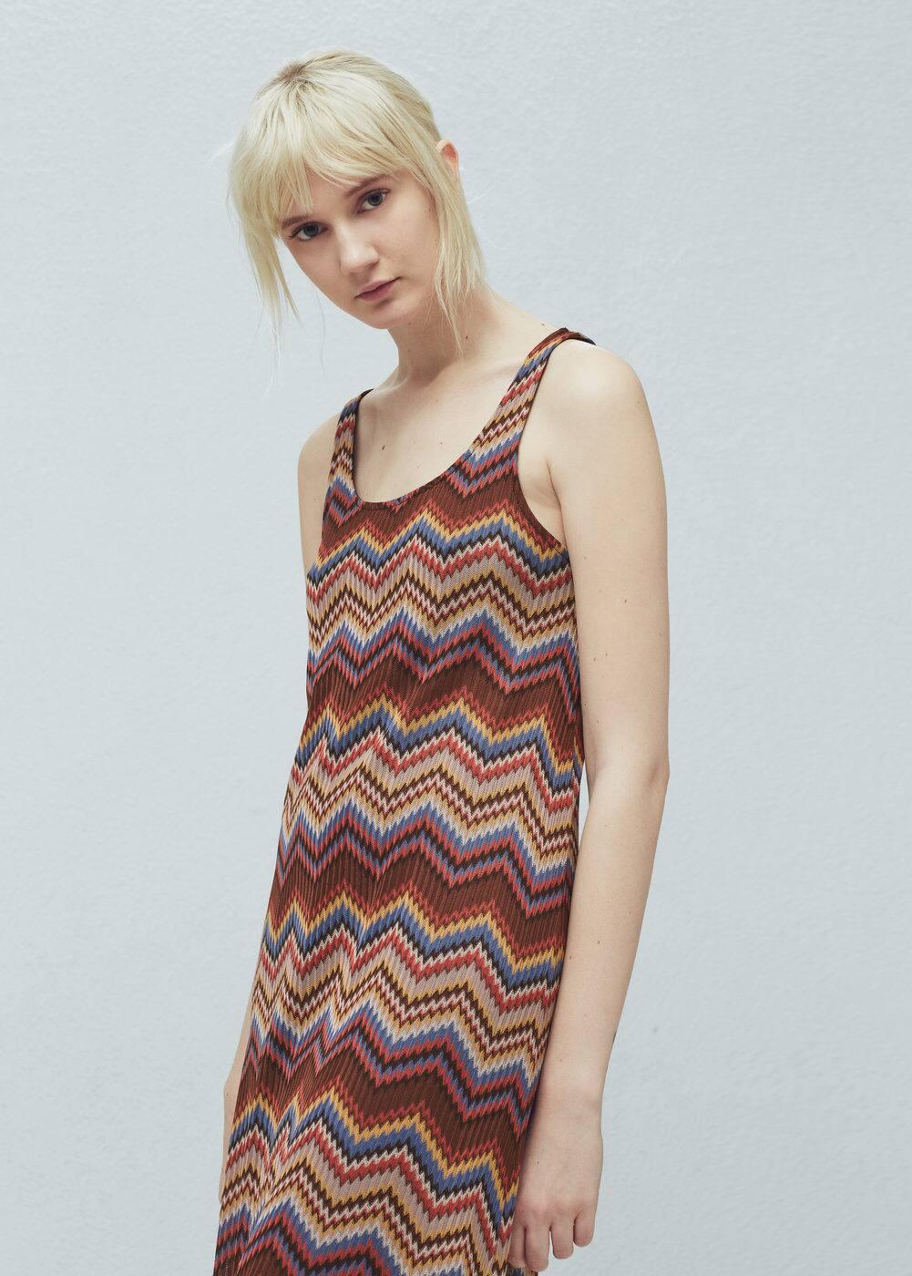 Zigzag textured dress | MANGO