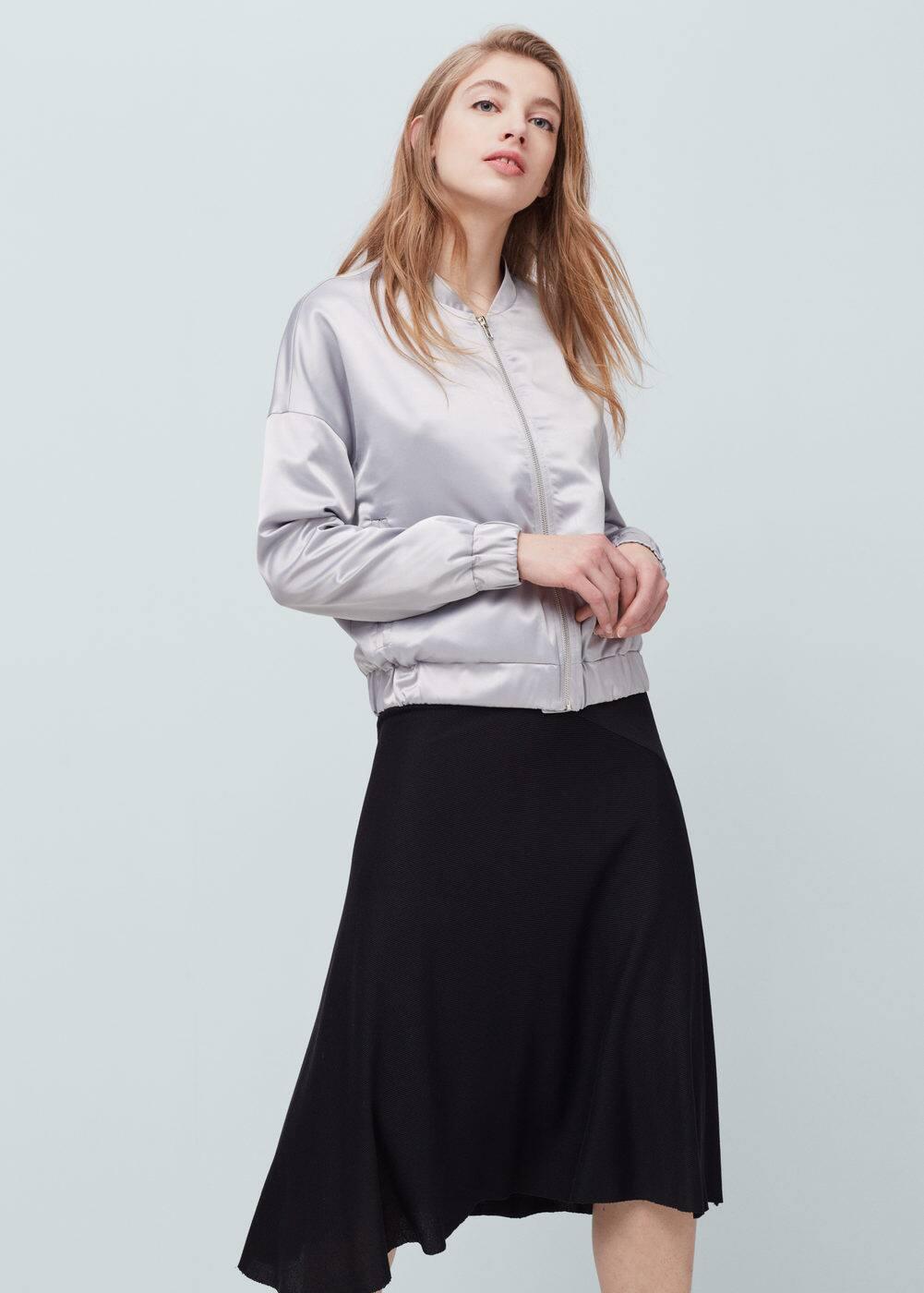 Flowy striped skirt | MANGO