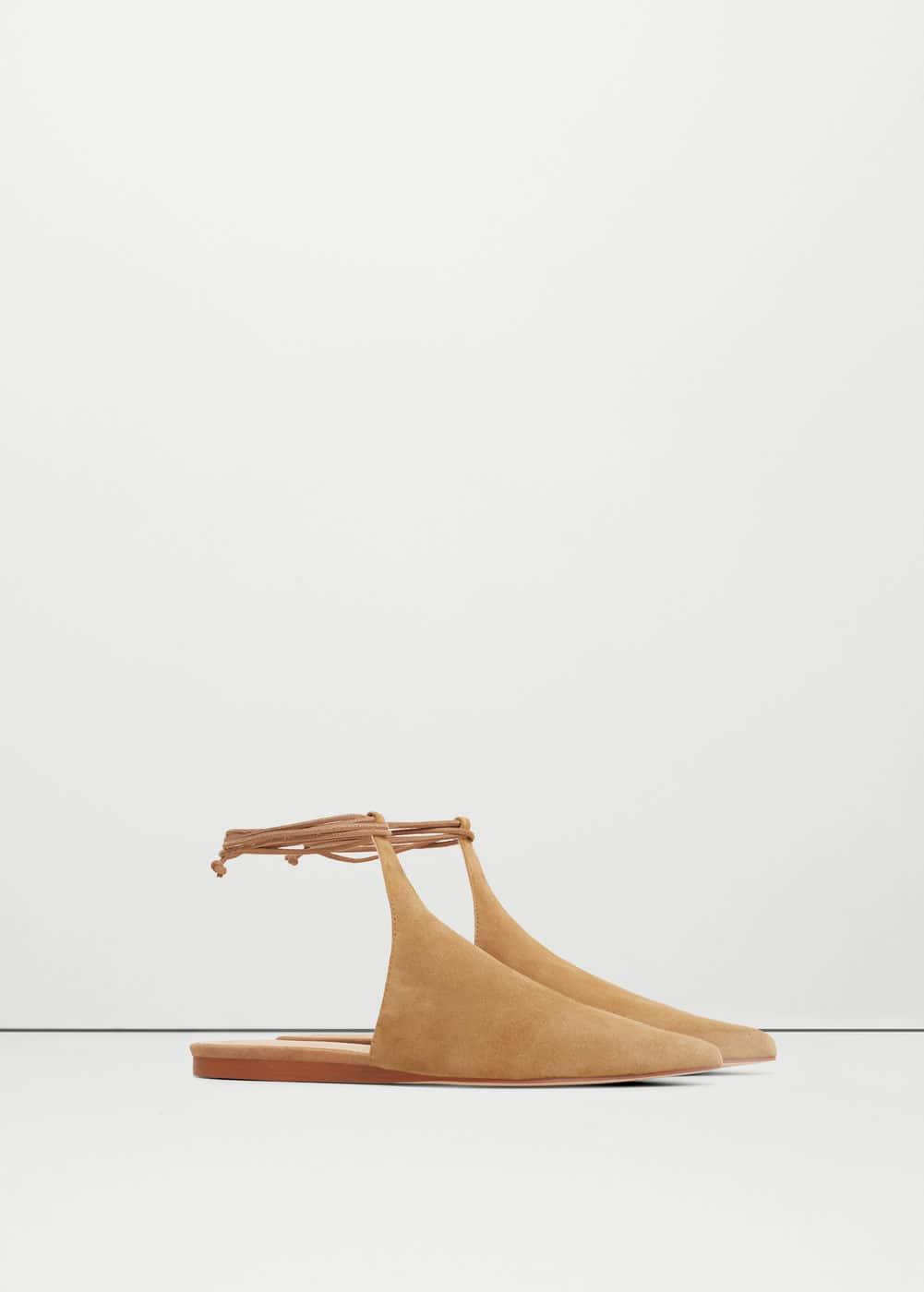 Premium - leather slingback shoes | MANGO