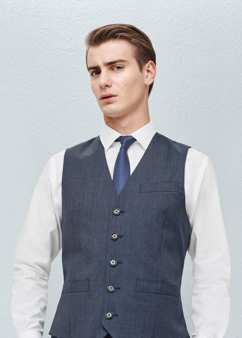 Prince of wales suit waistcoat | MANGO