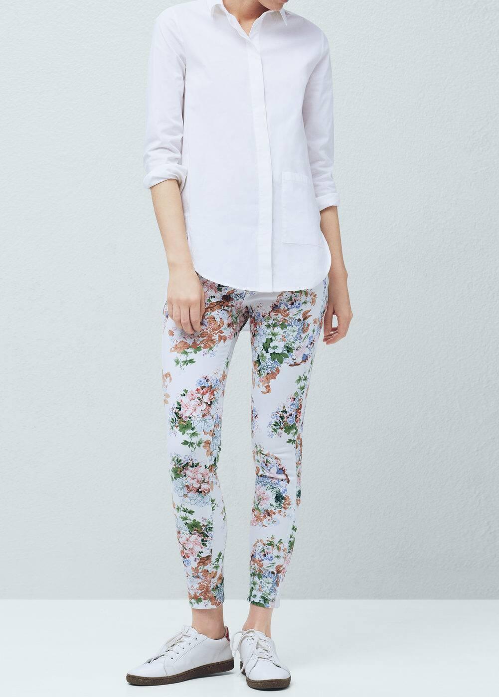 Floral print jeggings | MANGO