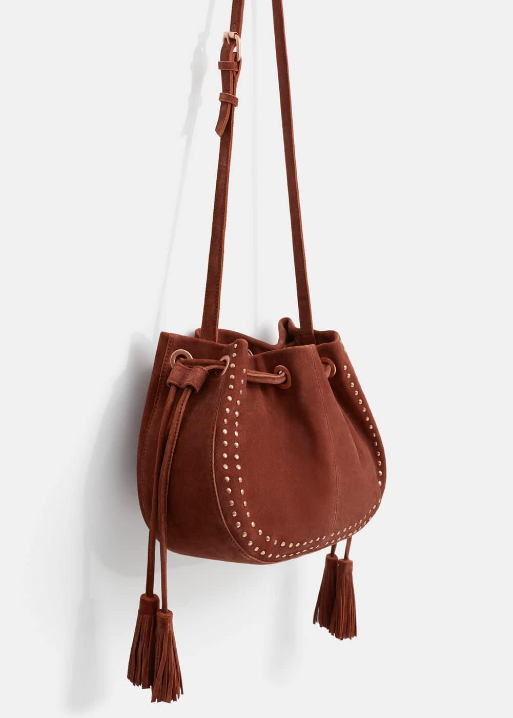 Leather bucket bag   VIOLETA BY MANGO