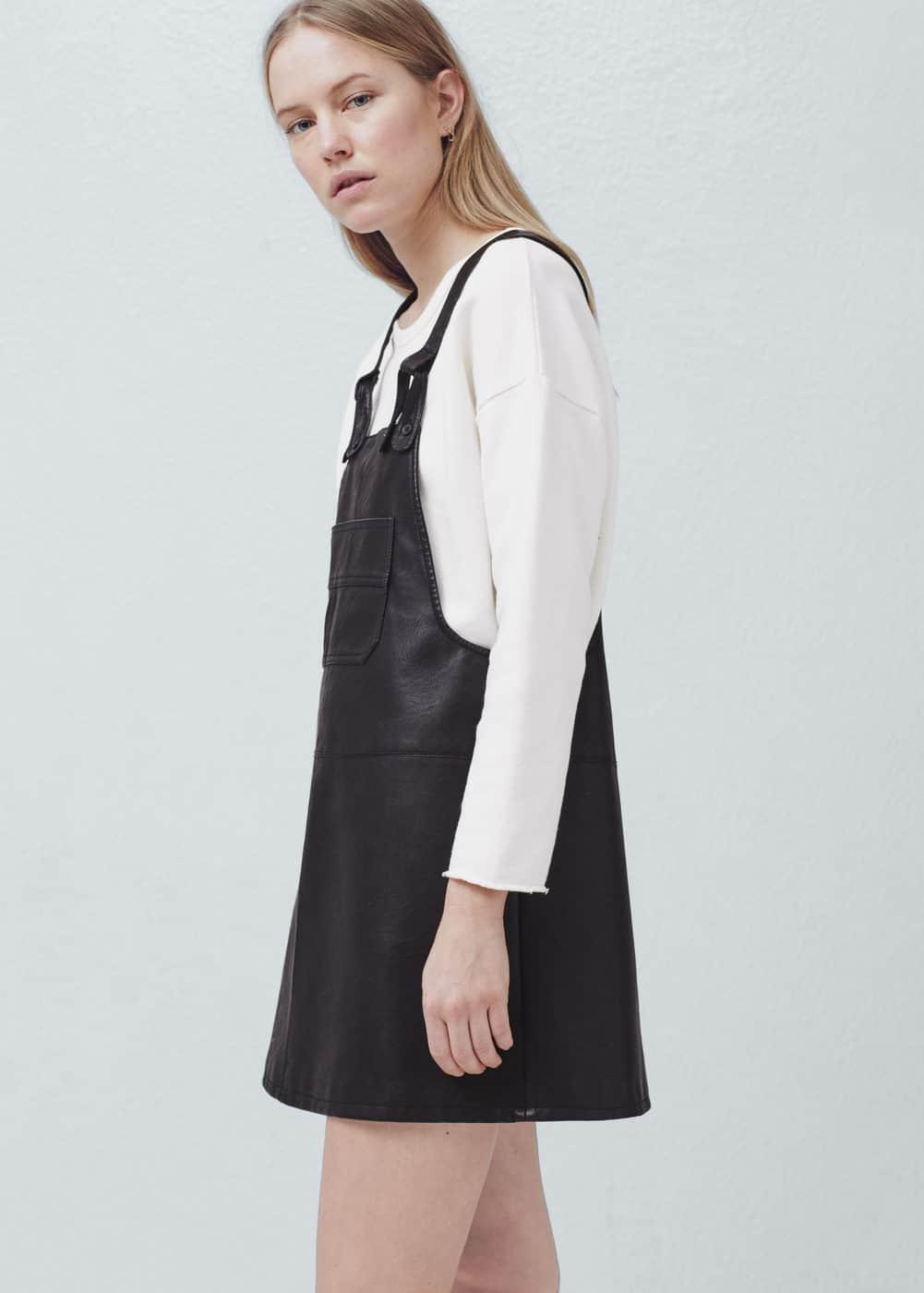 Pockets pinafore dress | MANGO