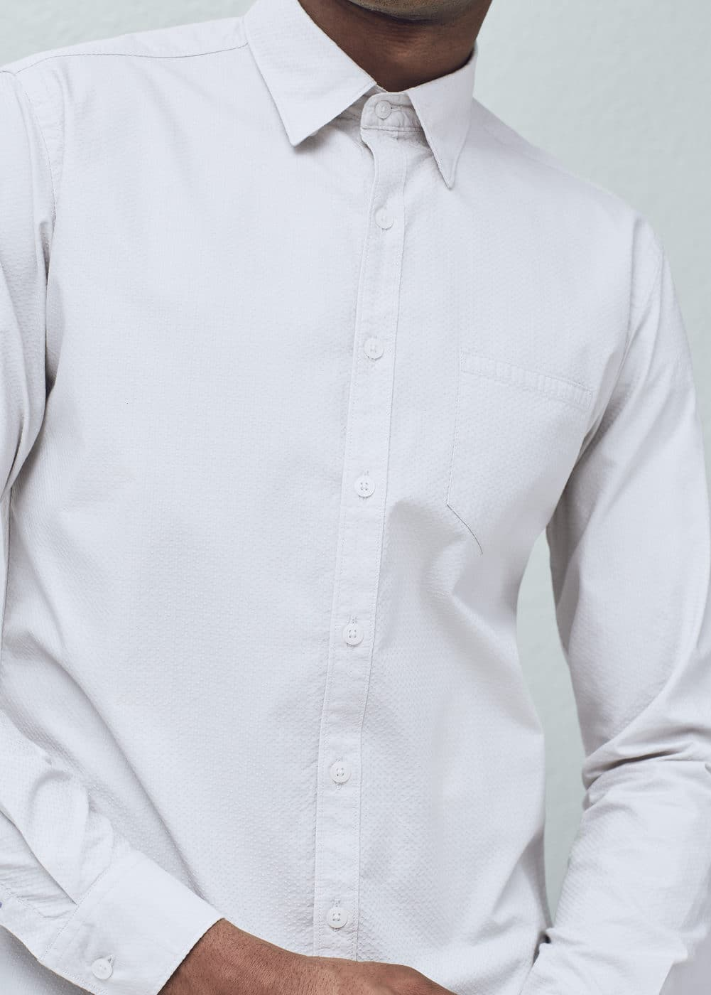 Slim-fit patterned shirt | MANGO