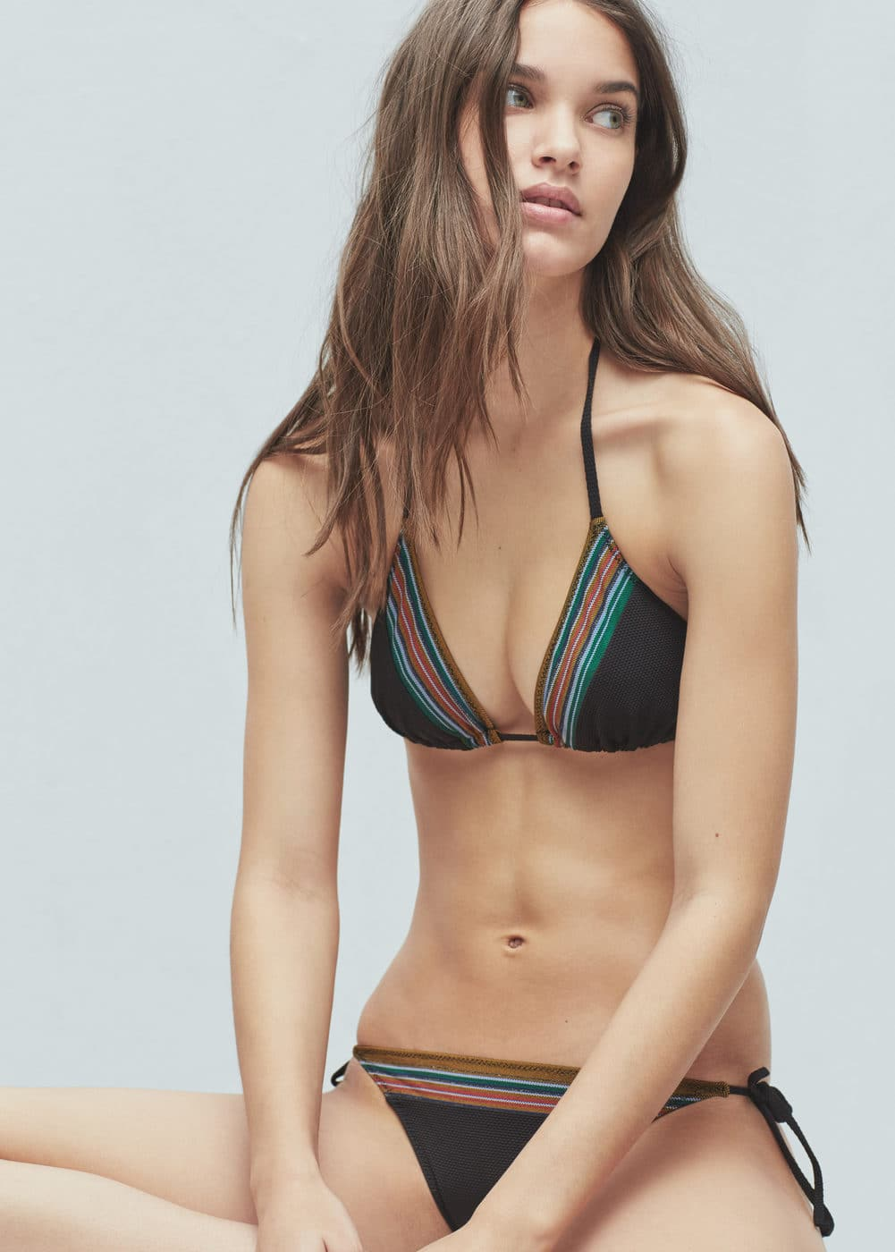 striped bikini bottom - woman | mango albania