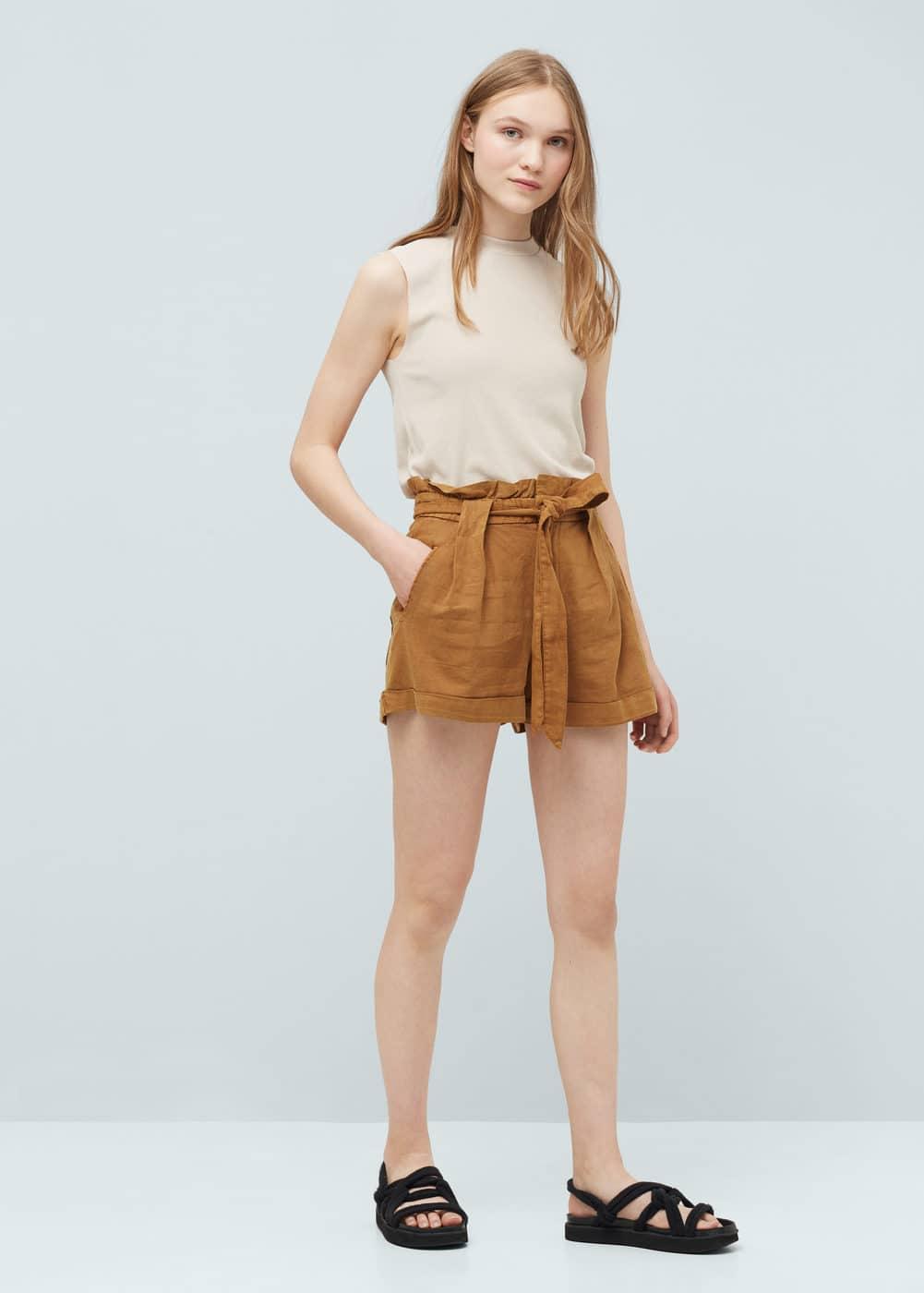 Short lin et coton | MANGO