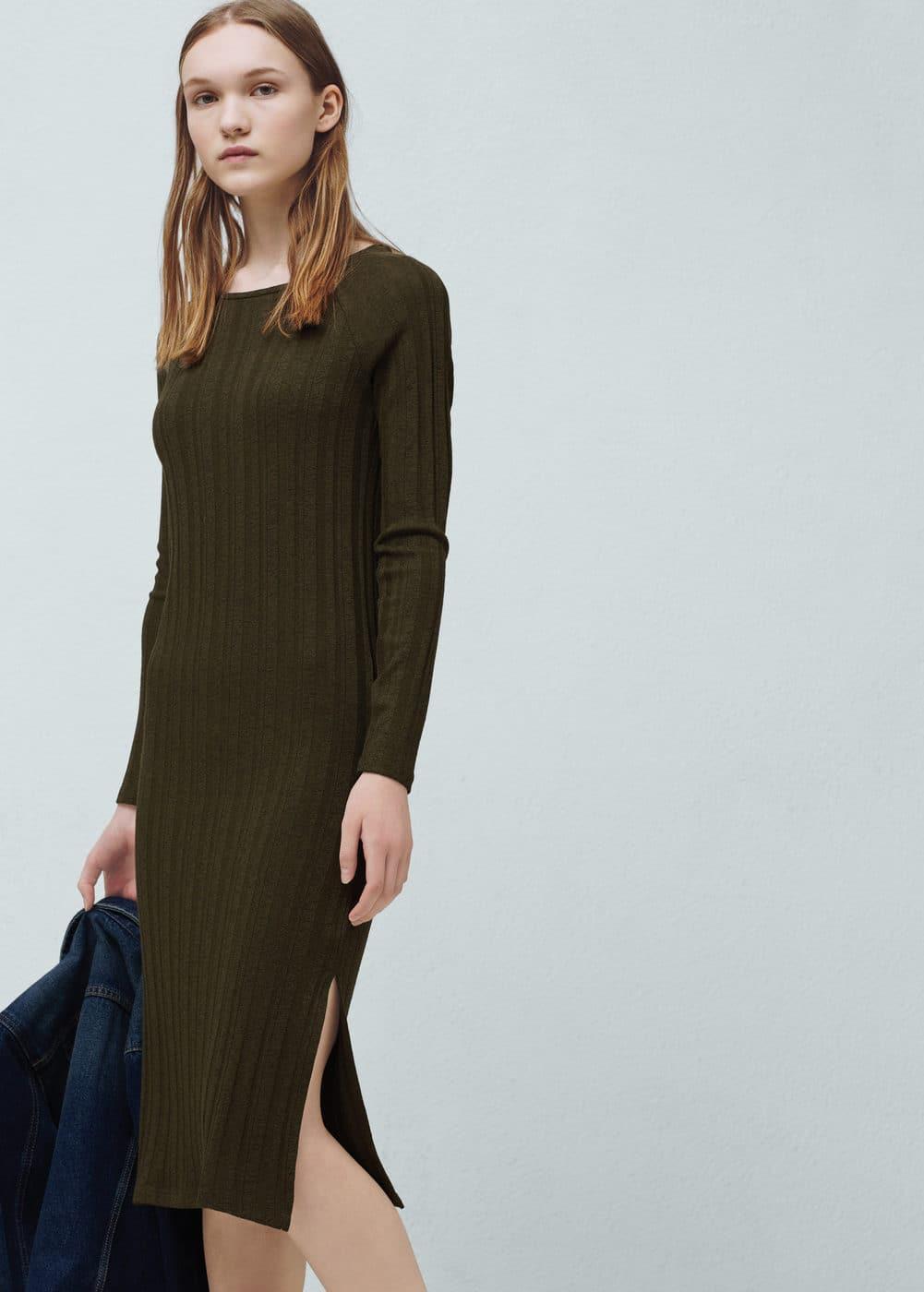 Vestido textura rayas | MANGO