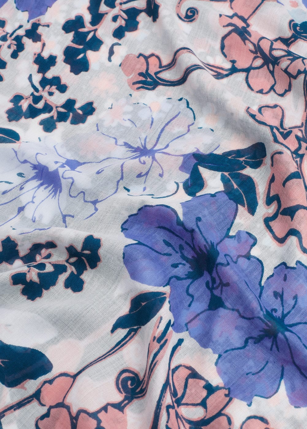 Floral print scarf | MANGO