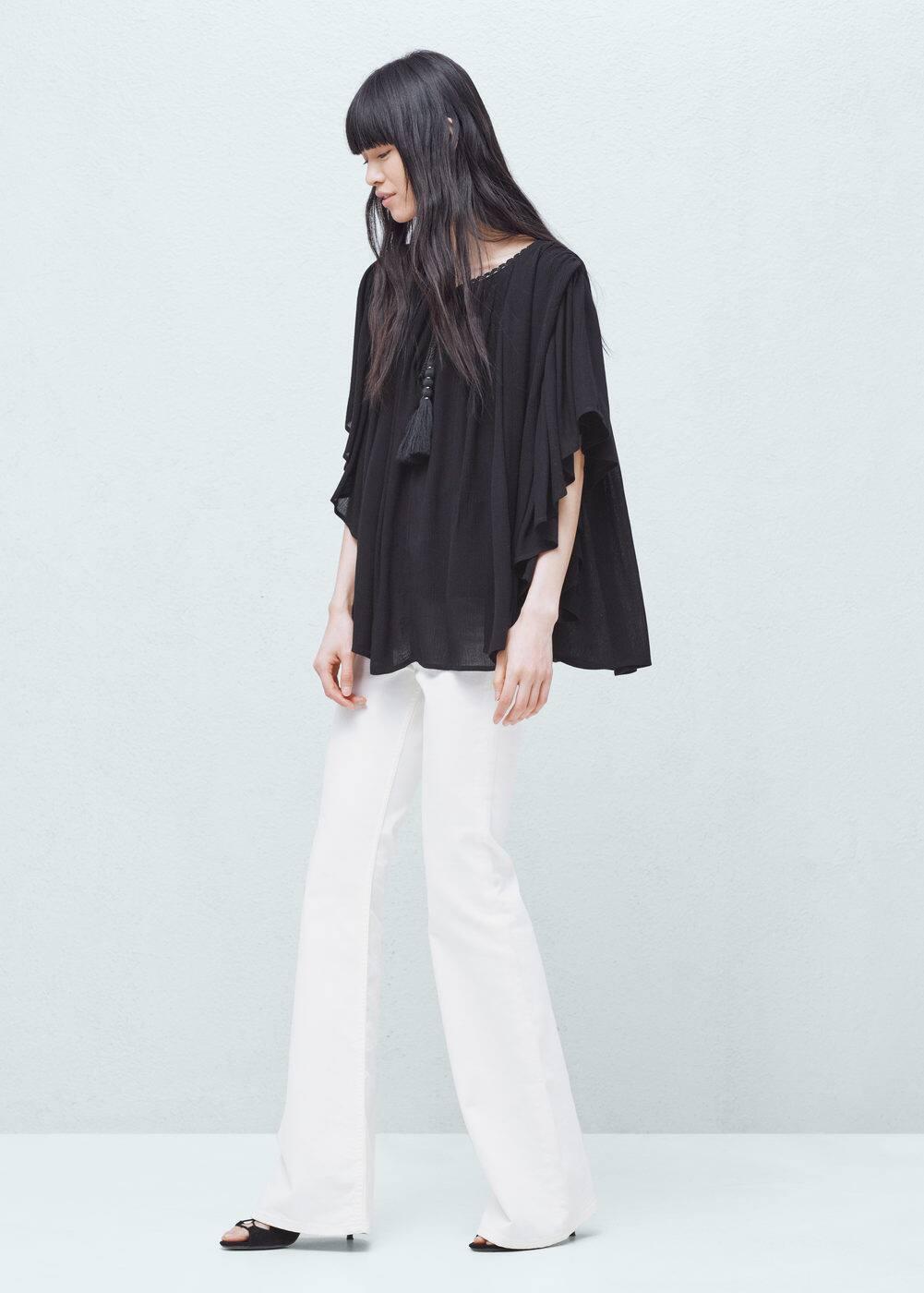 Flared sleeve blouse   MANGO