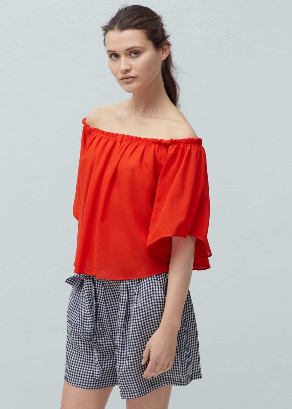 Off-shoulder blouse | MANGO