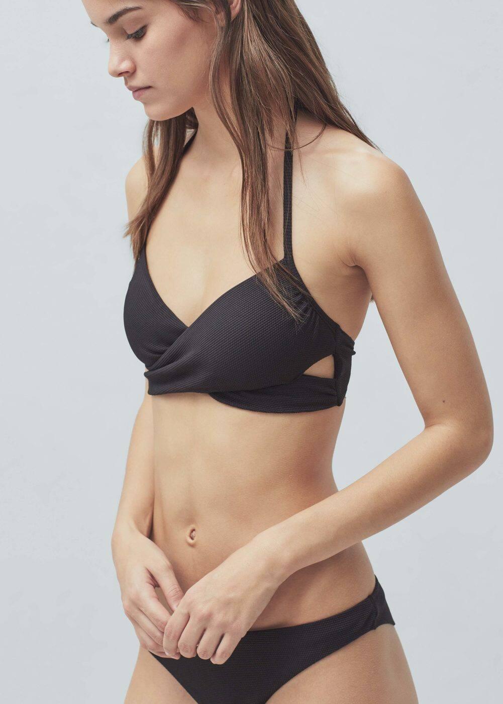 Biustonosz od bikini skrzyżowana tkanina | MANGO