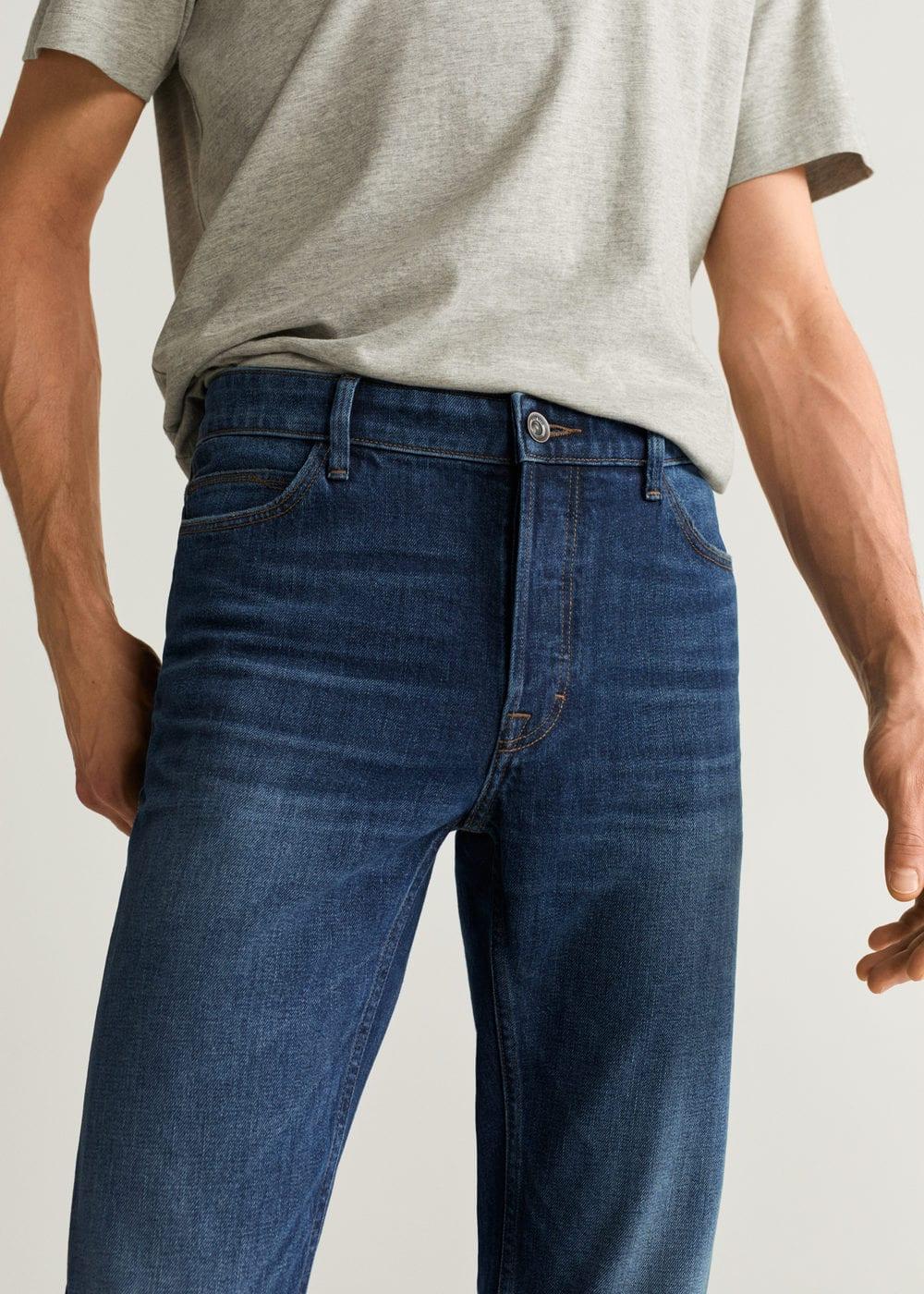 h-tim5:jeans tim slim fit lavado oscuro desgastado