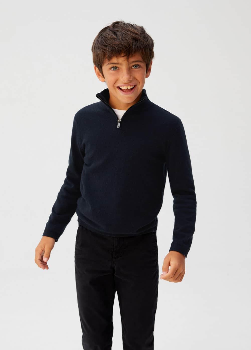 o-borja:jersey cuello cremallera