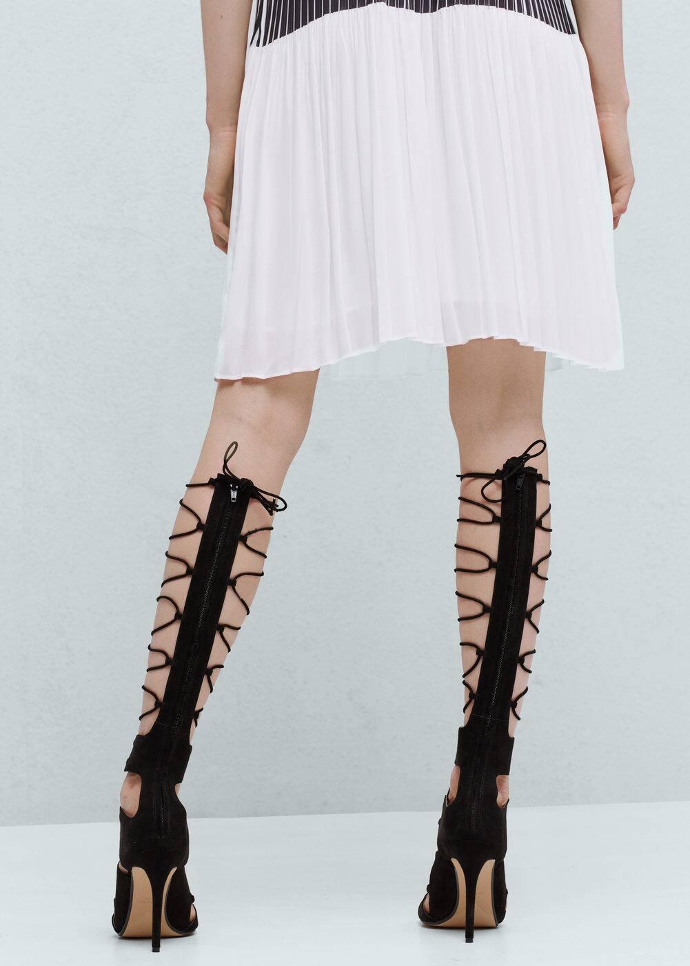 Sandália tiras cordão | MANGO