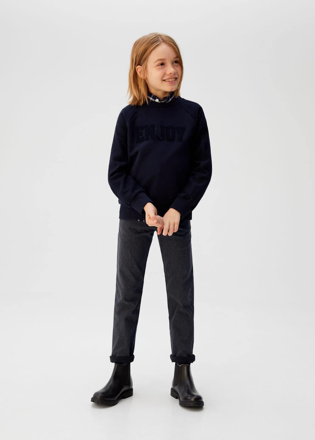 o-fiti:pantalon jaspeado bajo vuelta