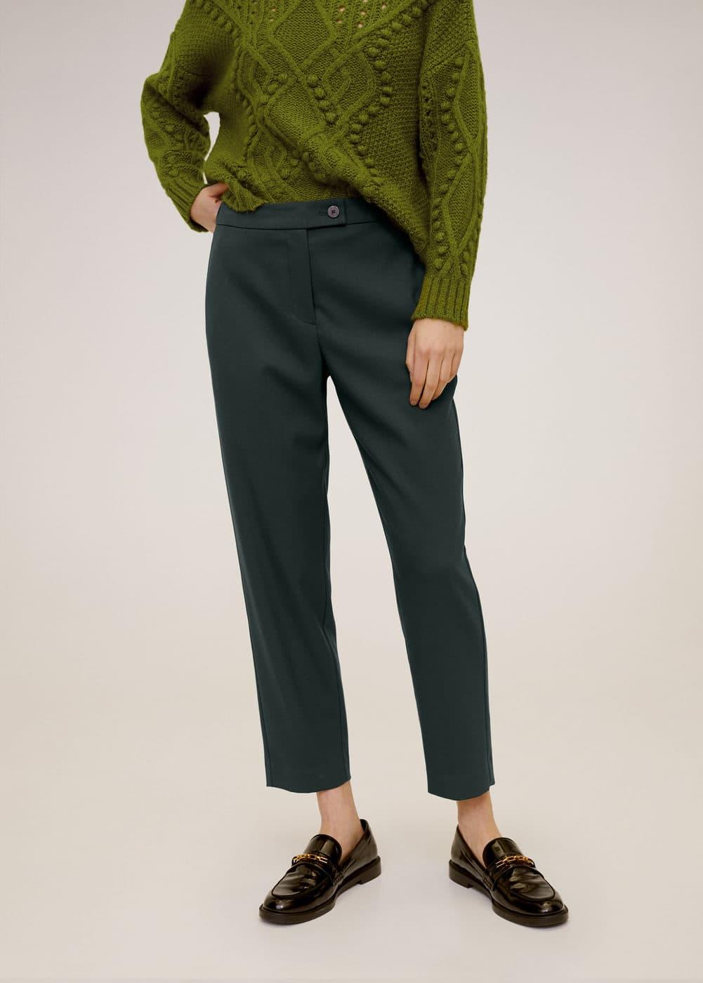 m-temps:pantalon traje crop