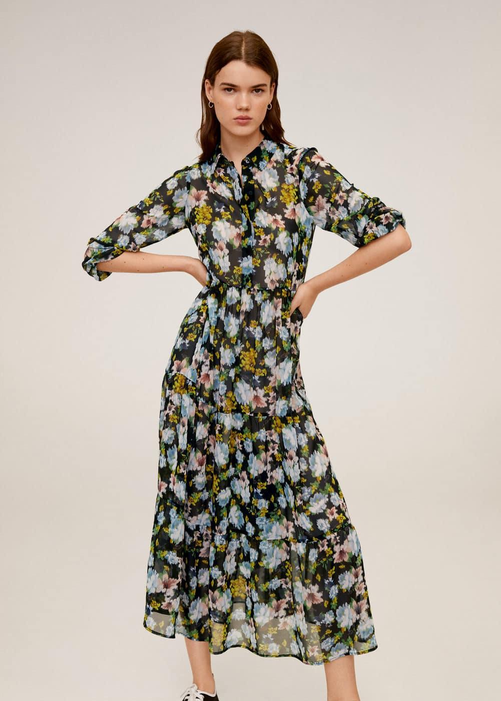 m-poma:vestido estampado midi