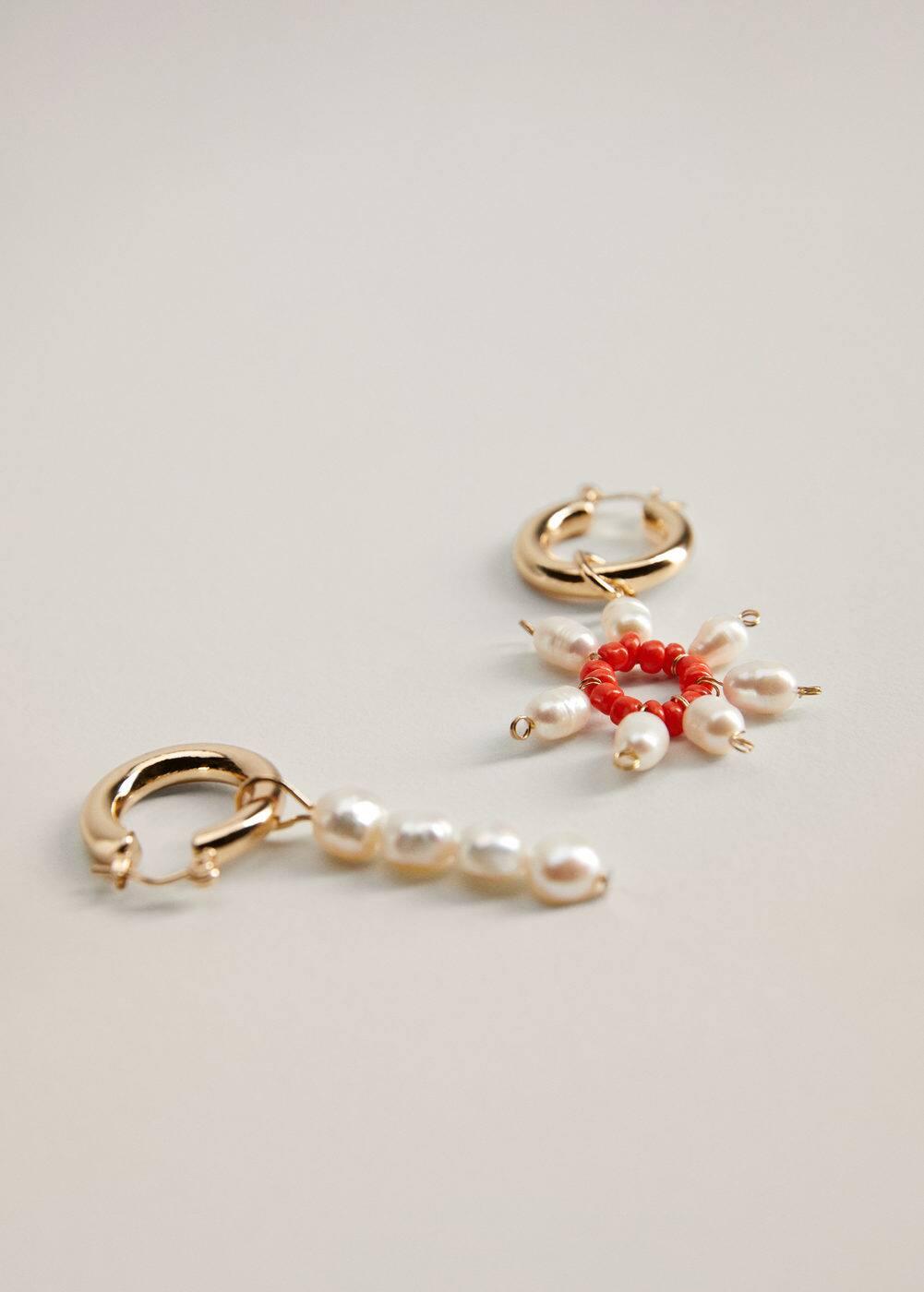 m-bruna:pendientes perlas desmontables