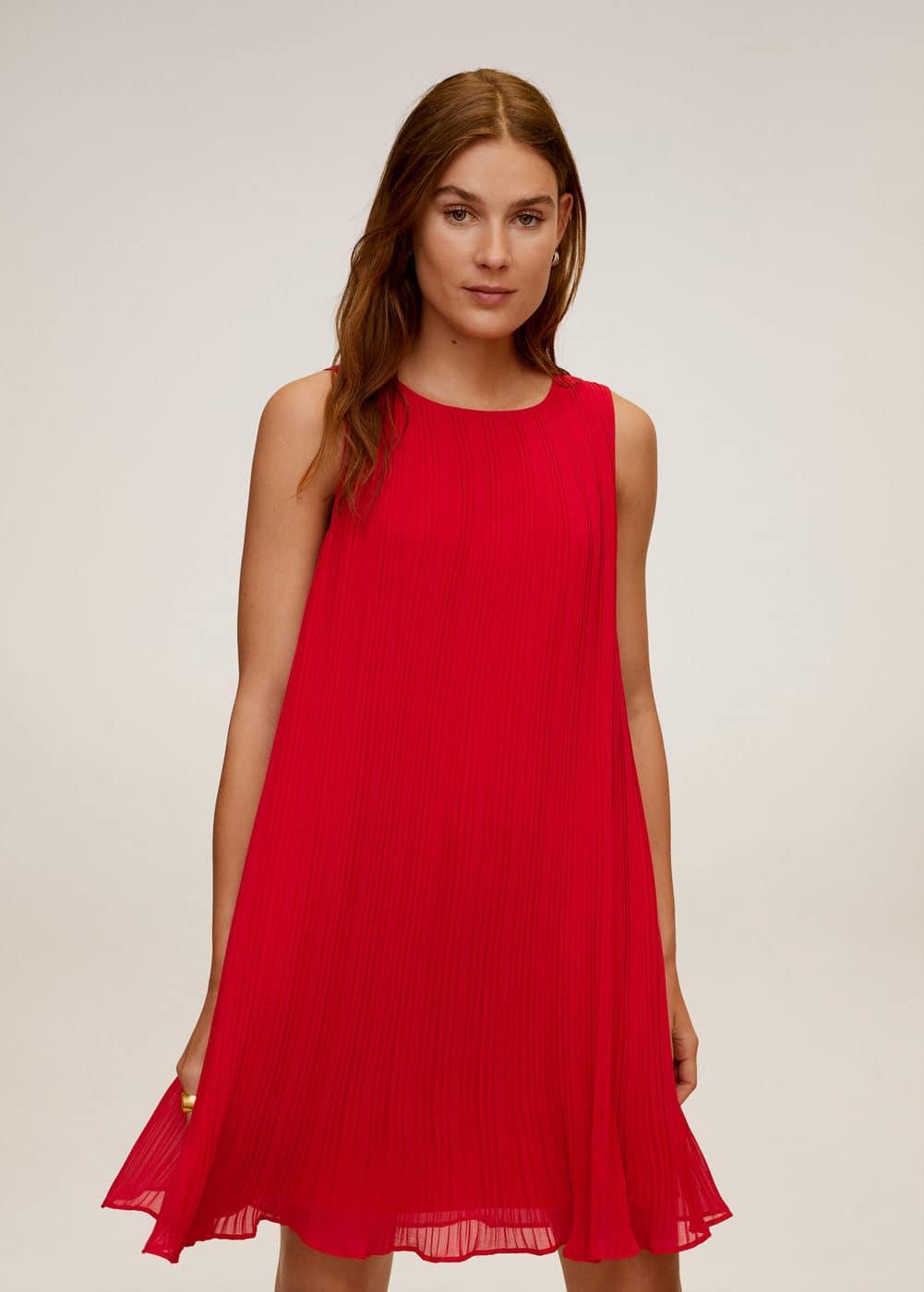 m-mauro2:vestido corto plisado