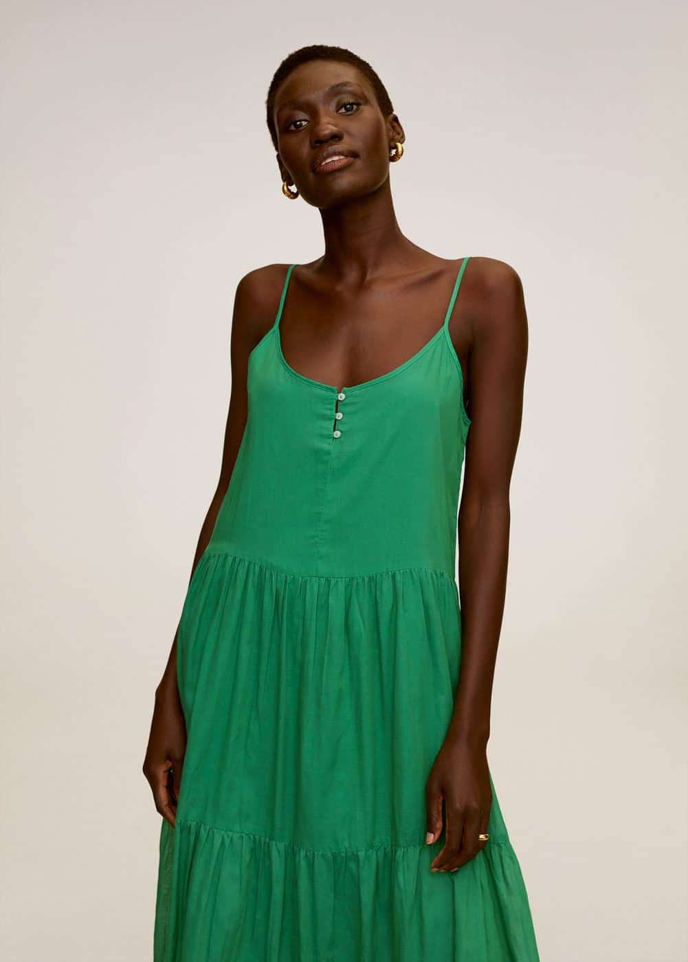 m-soli:vestido largo volantes