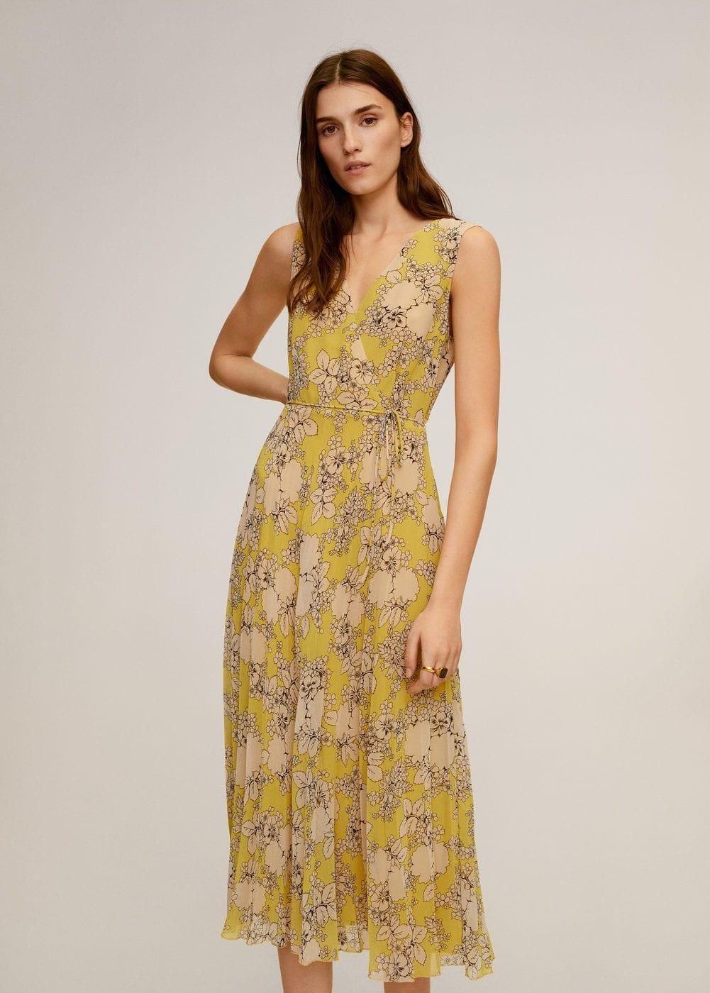 m-cake:vestido plisado floral