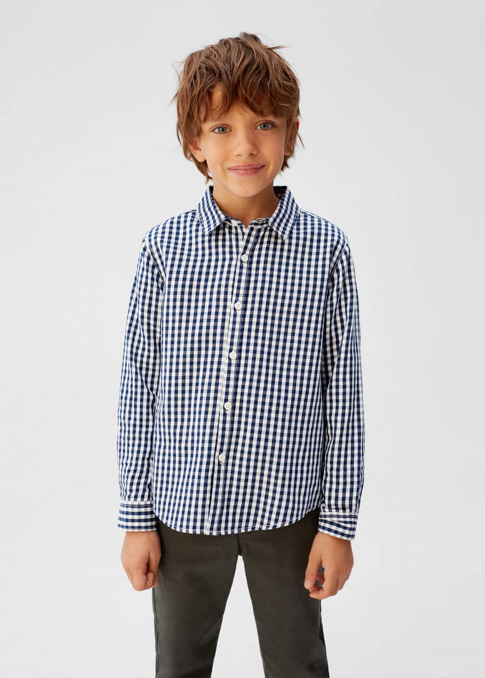 o-navy:camisa cuadro vichy