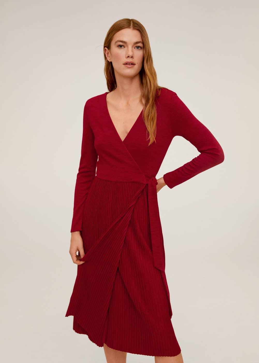 m-plical2:vestido falda plisada