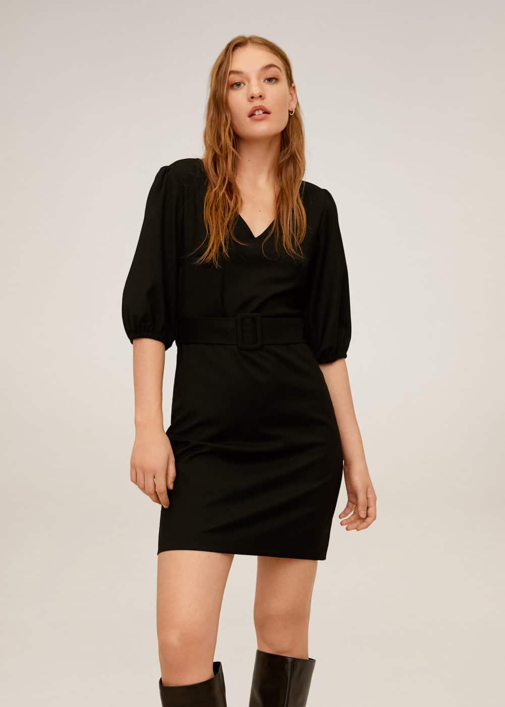 m-madison:vestido corto cinturon