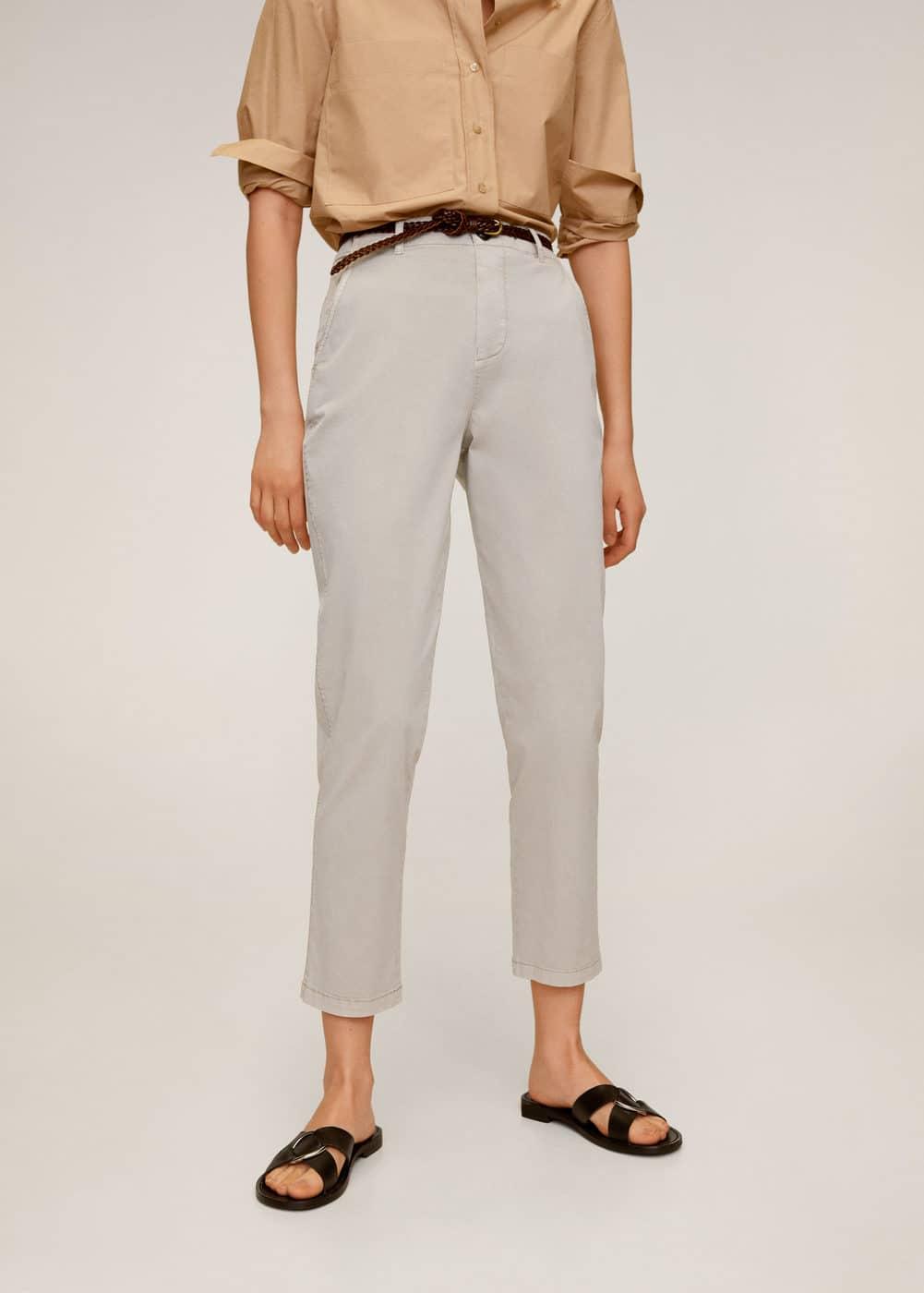 m-chino:pantalon cinturon piel