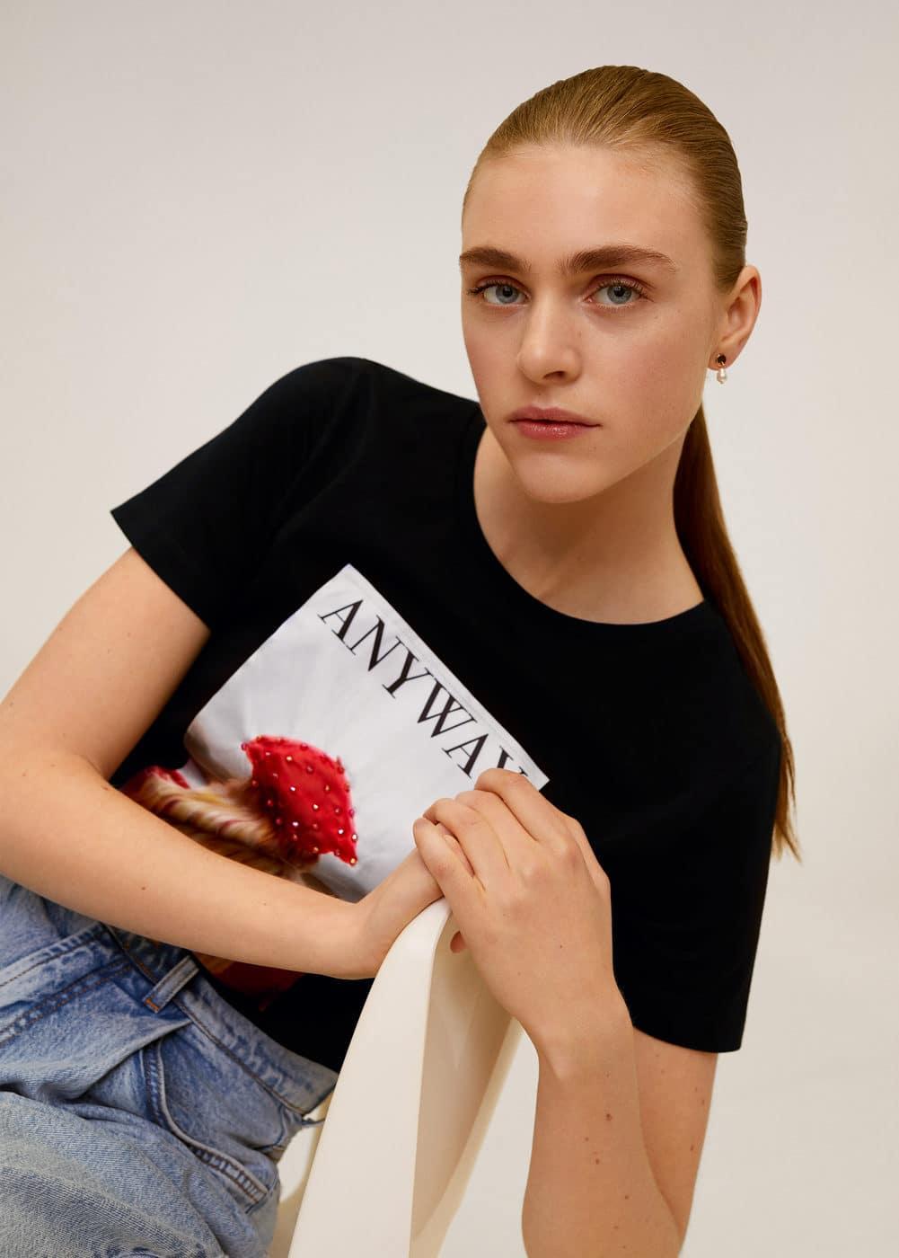 m-girlbits:camiseta estampada algodon