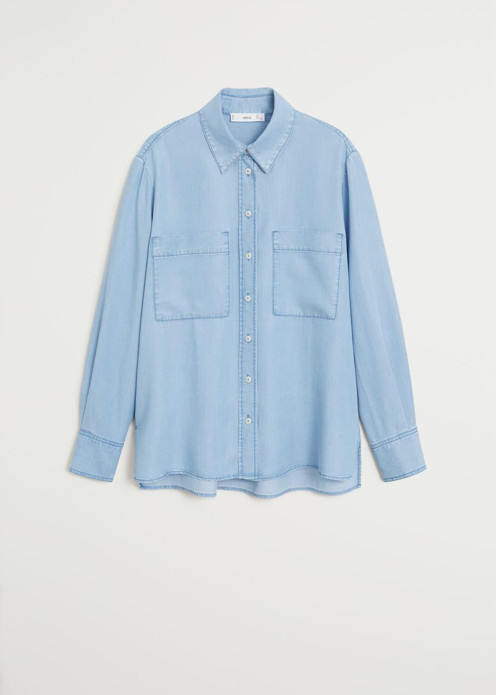 Рубашка с карманами - Рубашки - Женская | Mango МАНГО Россия (Российская Федерация)