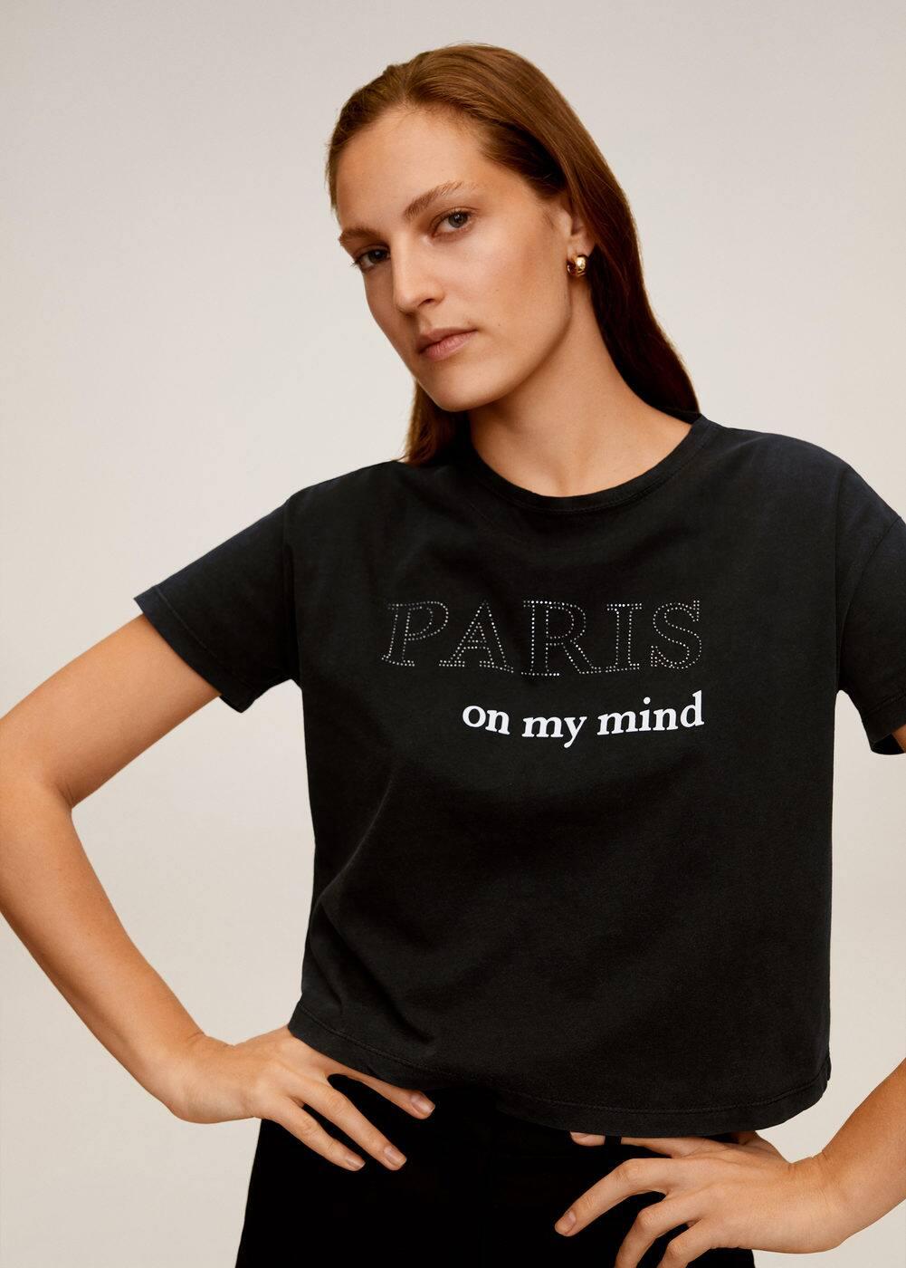 m-paris:camiseta estampada algodon