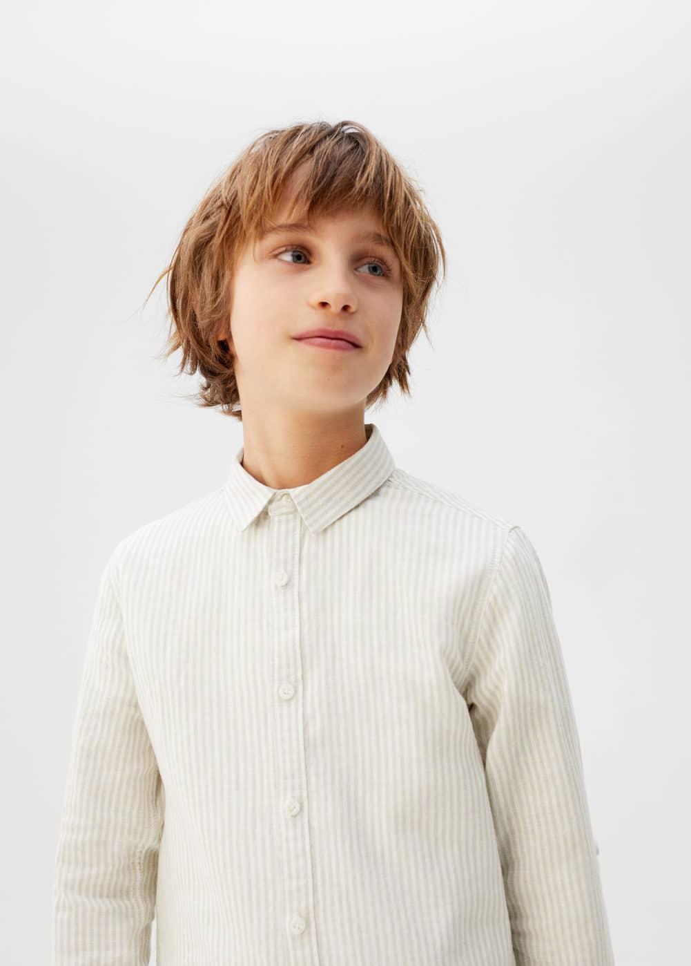 o-dario:camisa lino rayas