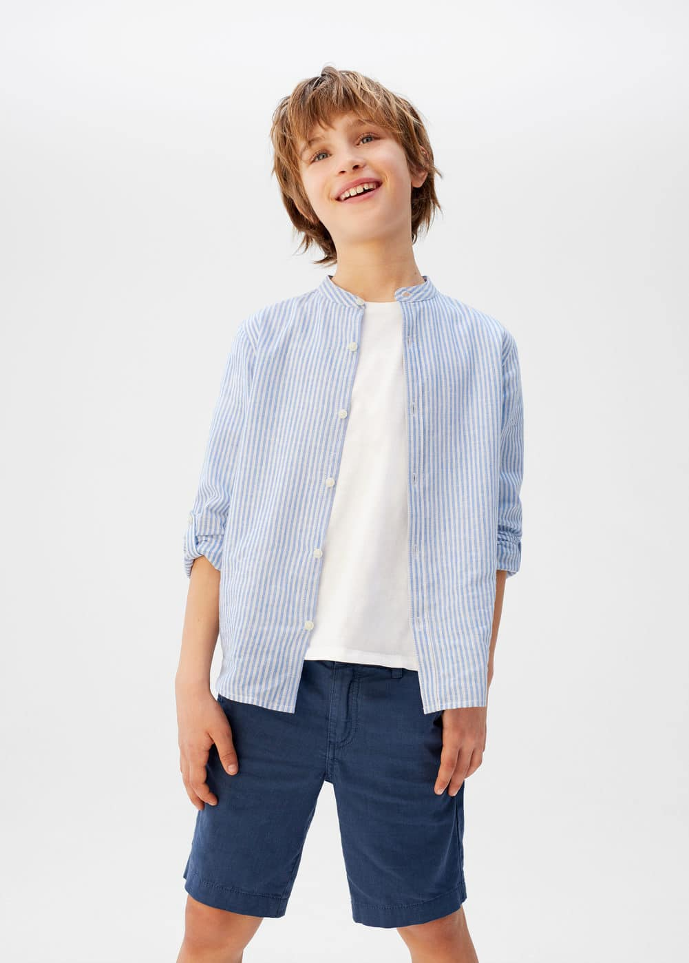 o-form:camisa lino rayas