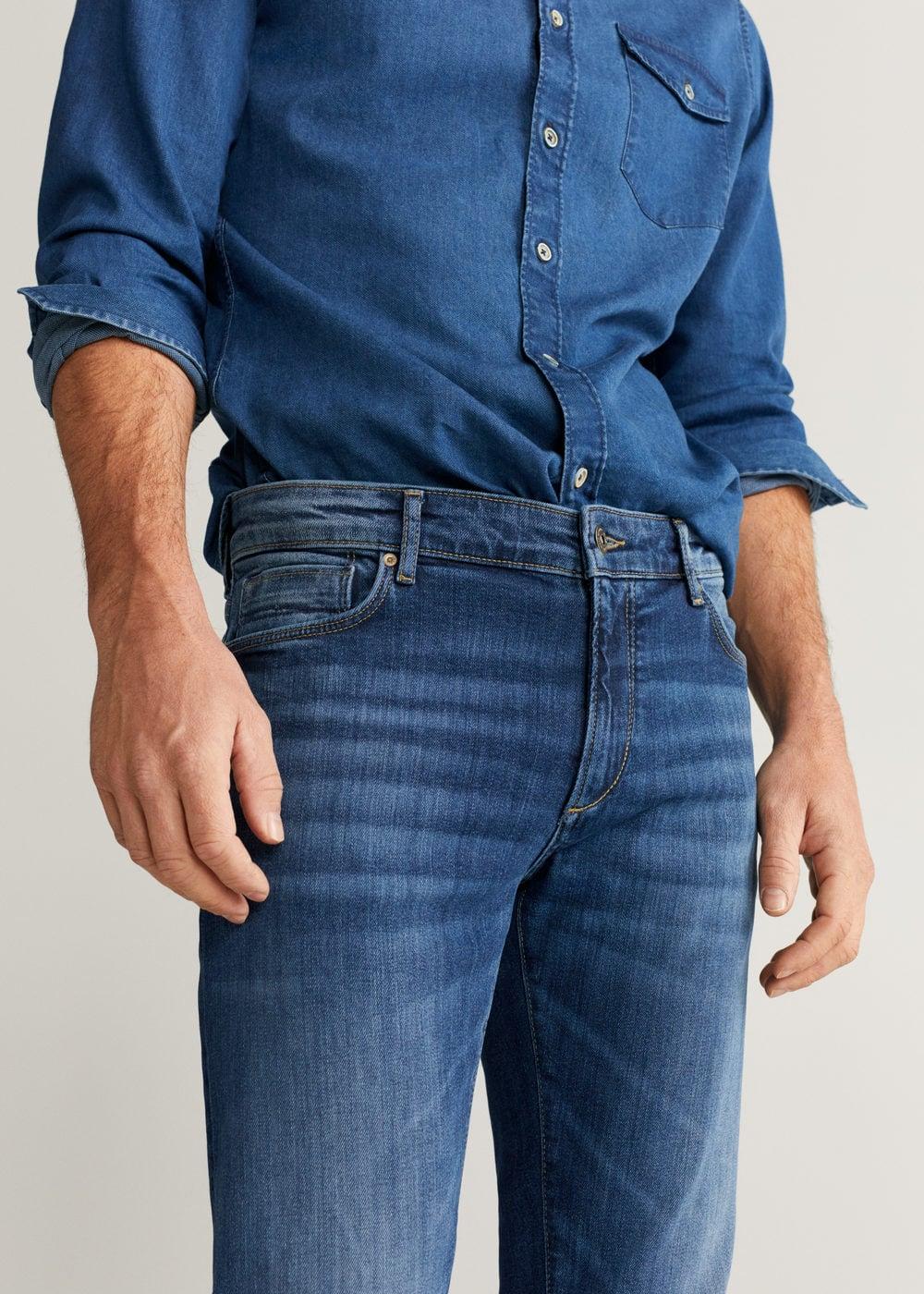 h-tim:jeans tim slim fit lavado medio