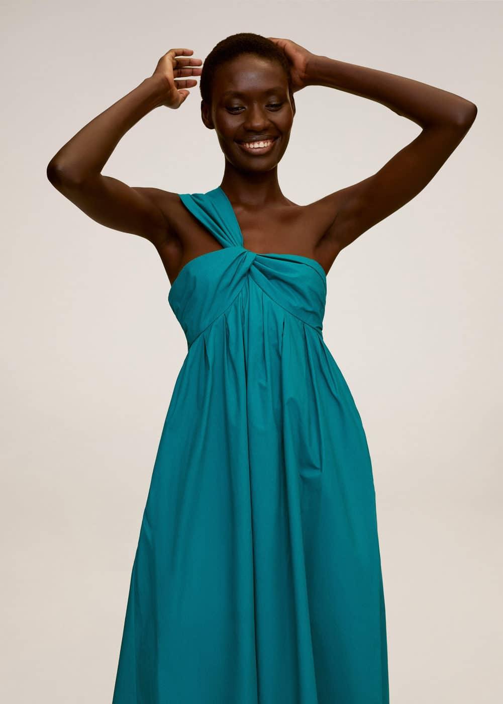 m-padova:vestido popelin asimetrico